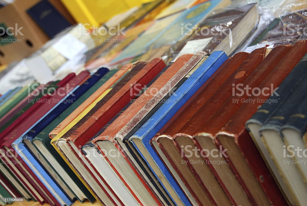 Row of old books royalty-free stock photo