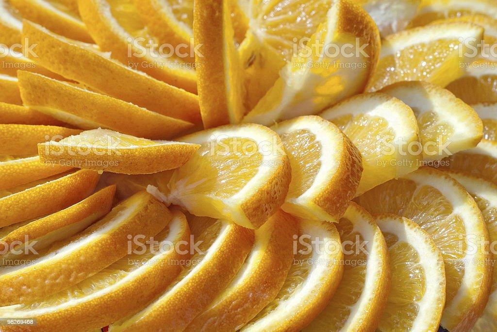 Fila di fette di arancia foto stock royalty-free