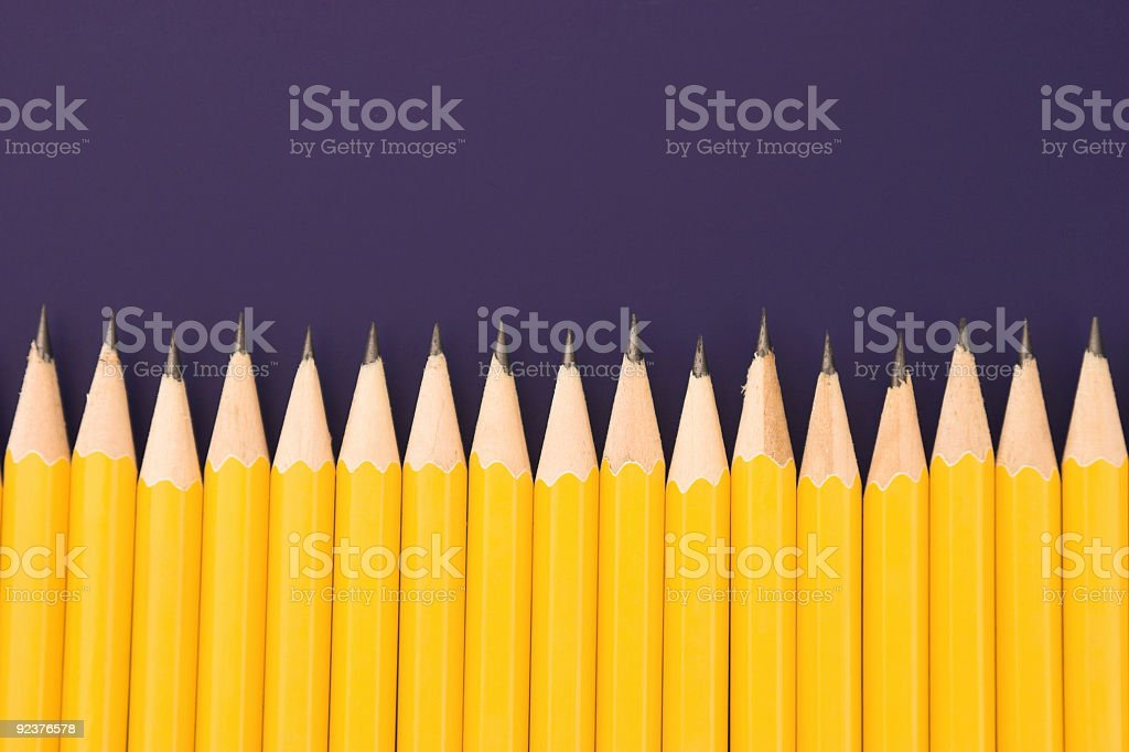Row of Pencils royalty-free stock photo