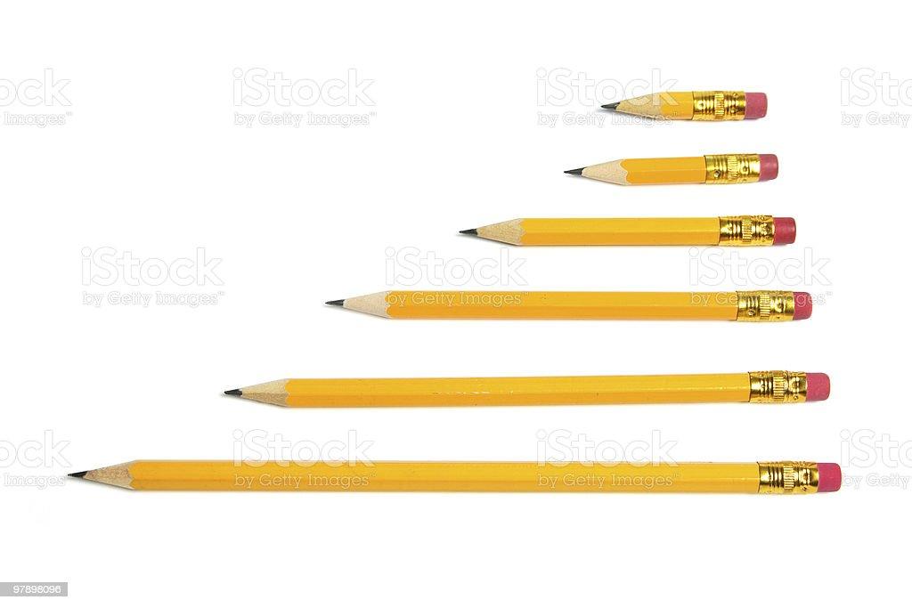 Row of Pencils royalty-free stock photo
