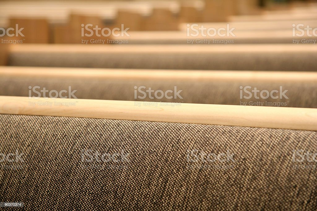 Row of Pews royalty-free stock photo