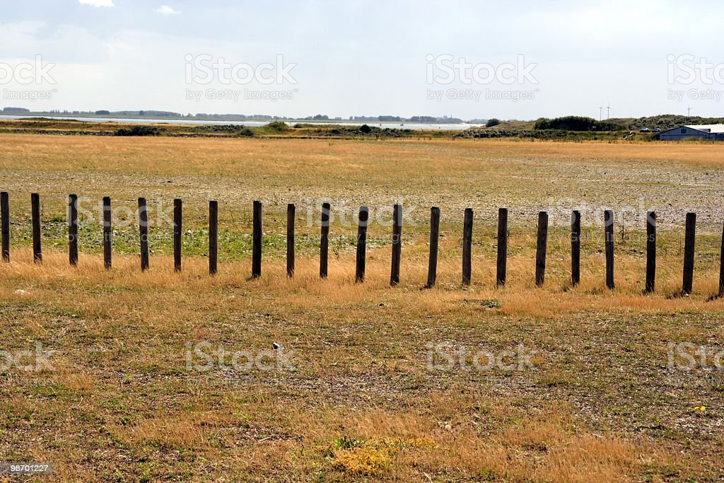 Row of Poles royalty-free stock photo