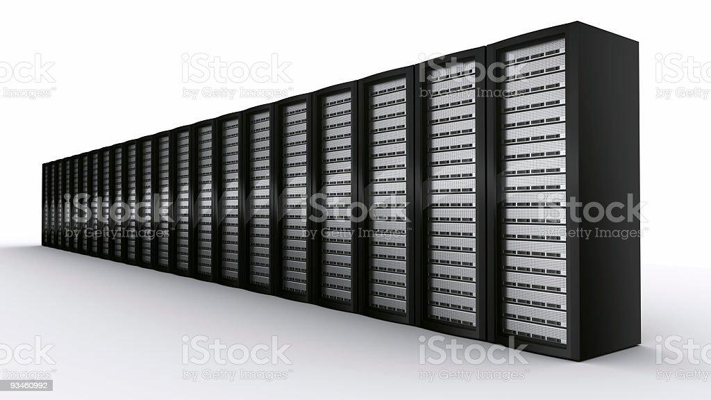 row of rack servers royalty-free stock photo