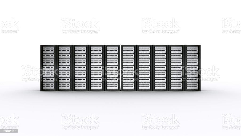 row of rack servers - Royalty-free Administrator Stock Photo