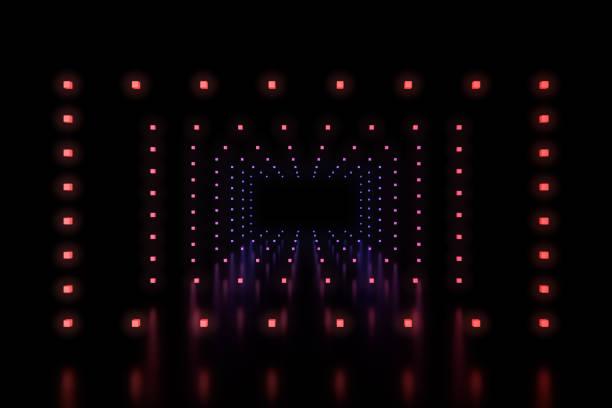 Row of rectangles LED light stock photo