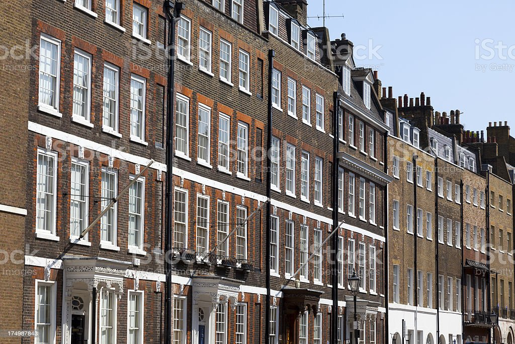 Row of residential houses royalty-free stock photo