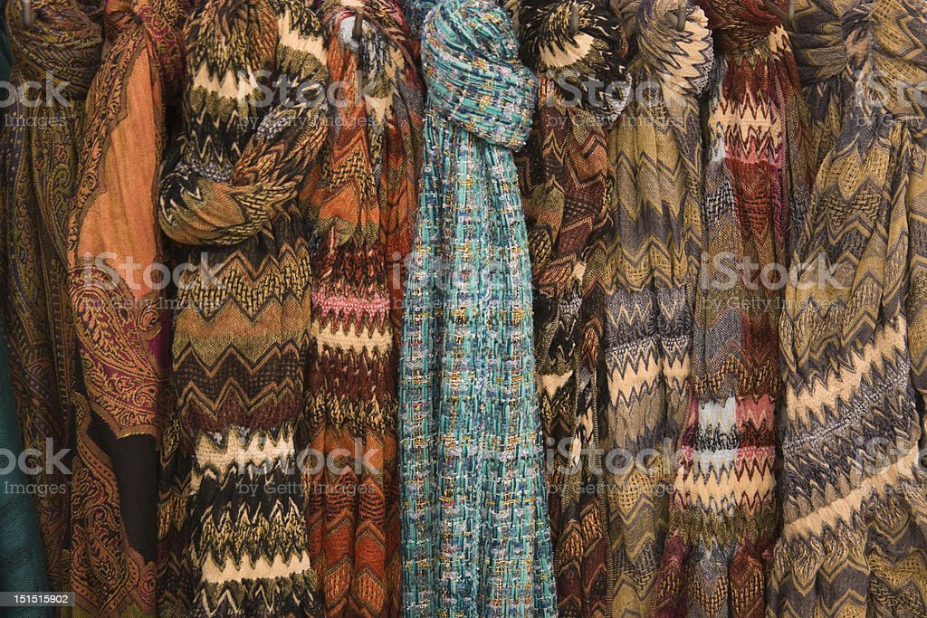Row of Scarves royalty-free stock photo