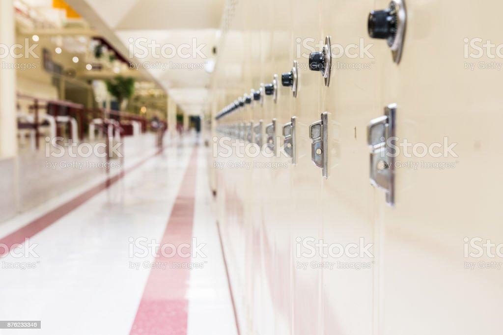 Row of school lockers royalty-free stock photo