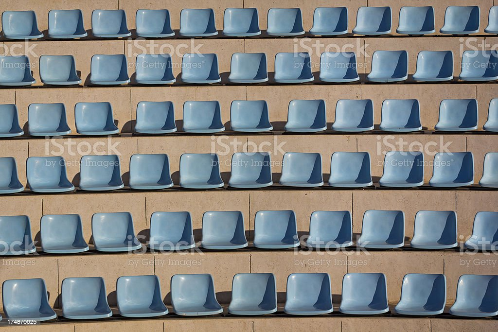 Row of seats at the football game royalty-free stock photo