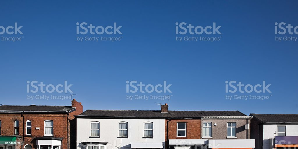 Row of Shops-Click for related images stock photo
