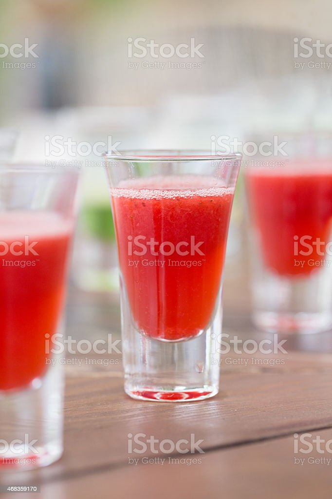Row of shot drinks royalty-free stock photo