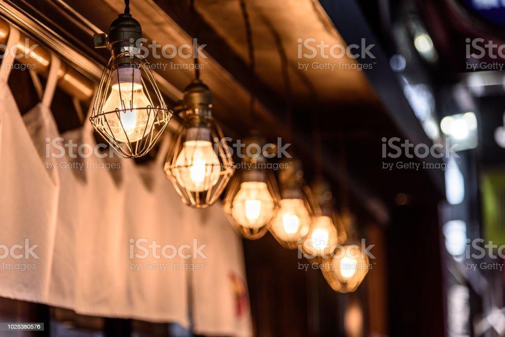row of six lights stock photo