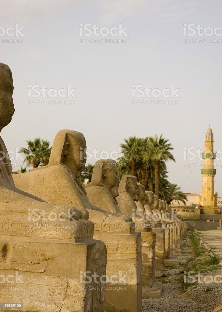 Zeile der Sphinx-Galerie Lizenzfreies stock-foto