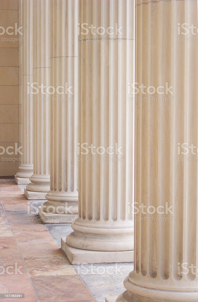 Row of Stately Columns royalty-free stock photo