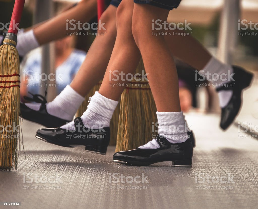 A Row of Tap Dancers stock photo