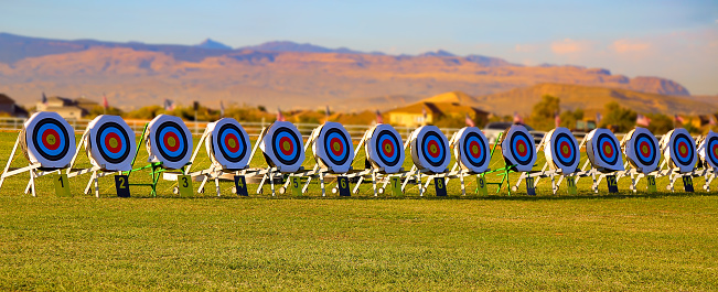 istock row of targets in a competition 871775000