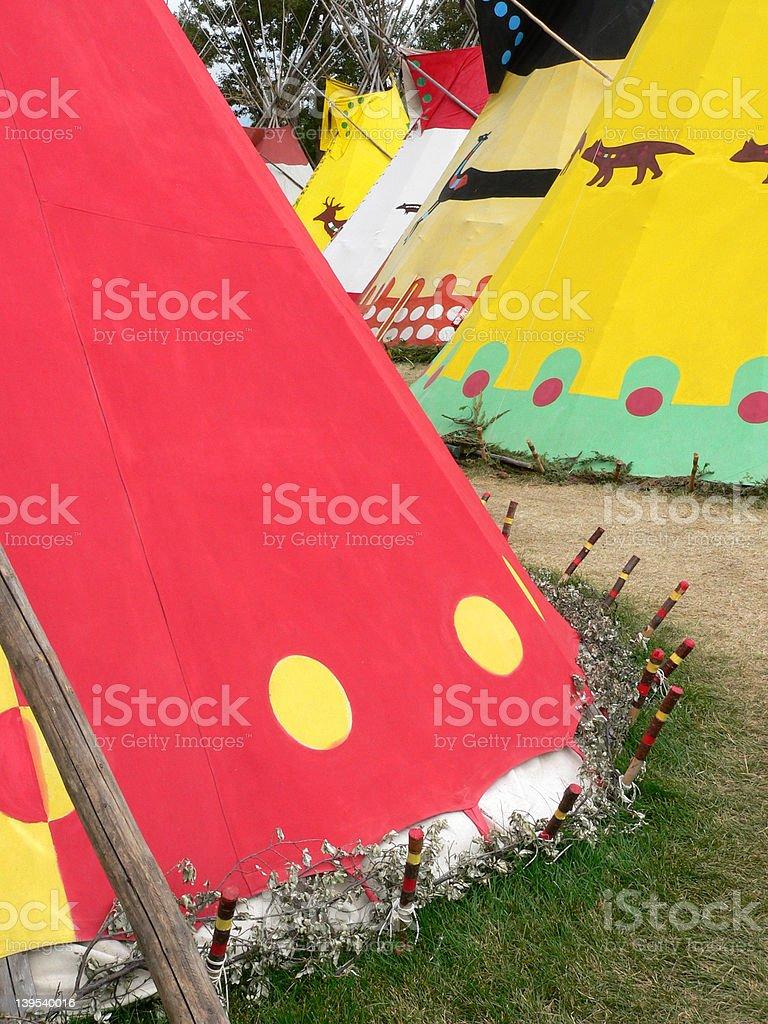 Row of Tepees royalty-free stock photo