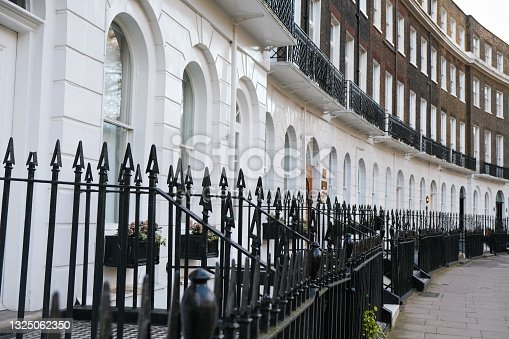 istock A row of terraced Georgian style townhouses in London. 1325062350