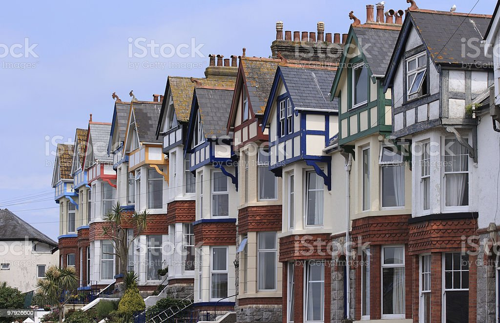 Row of Terraced Houses royalty-free stock photo