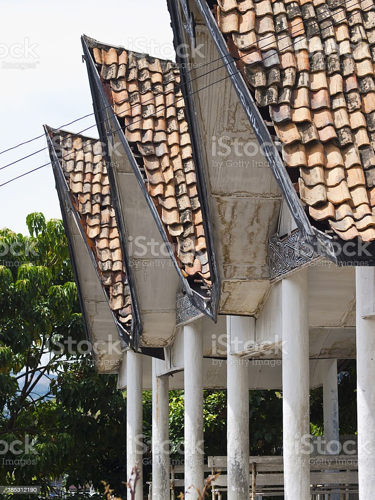 A row of terracotta tiled roof tops. royalty-free stock photo