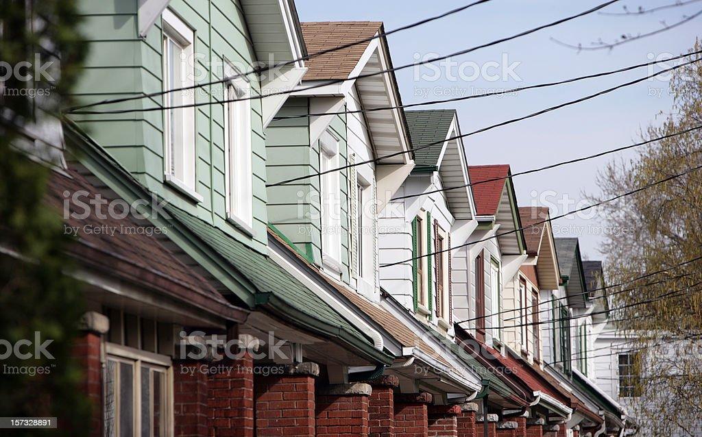 Reihe von den Dächer – Foto