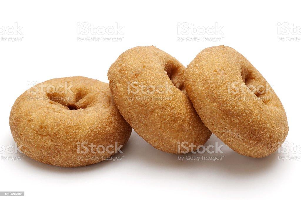 row of three  donuts royalty-free stock photo