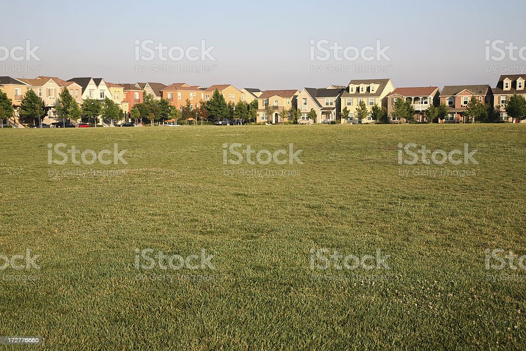 Row of Townhouses royalty-free stock photo