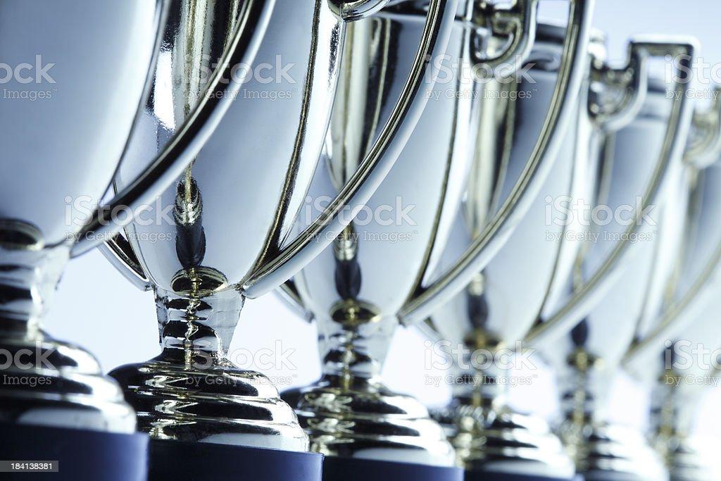 Zeile der trophies – Foto