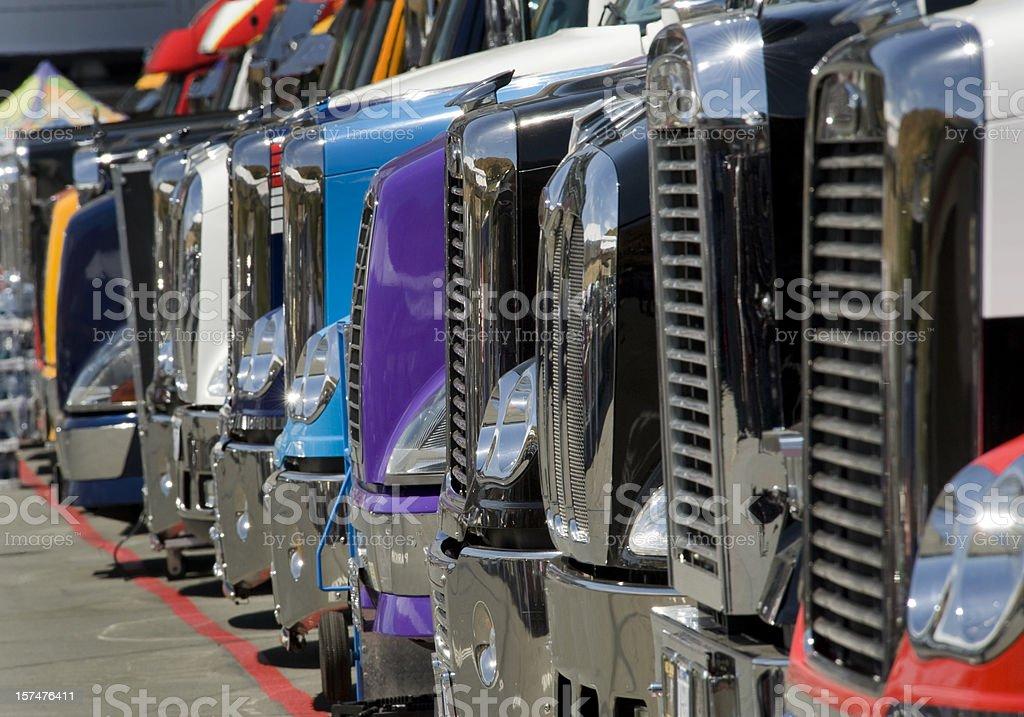 Row of Trucks royalty-free stock photo