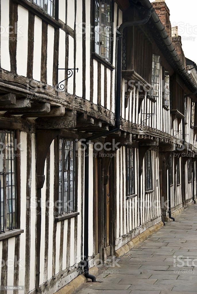 Row of Tudor Houses royalty-free stock photo