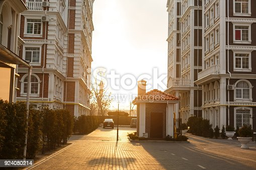 istock Row of typical english terraced houses 924080214