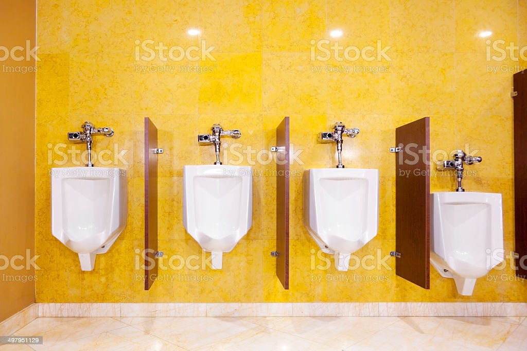 Row of Urinals stock photo