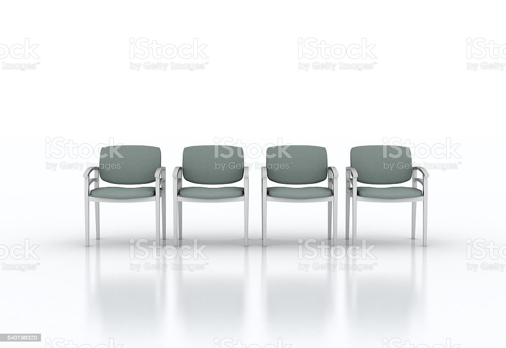 Row of waiting chairs stock photo
