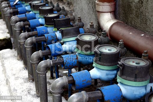 Photo of a row of water meters