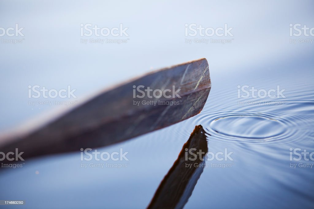 row the boat (shallow dof) stock photo