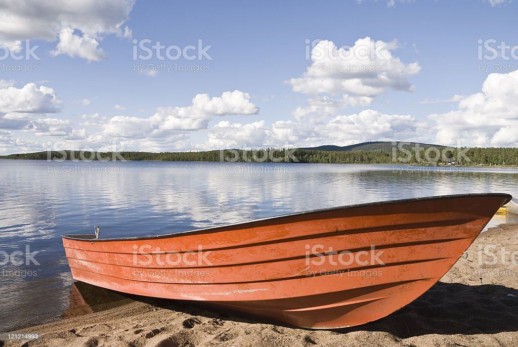 Rowboat at the Lake royalty-free stock photo