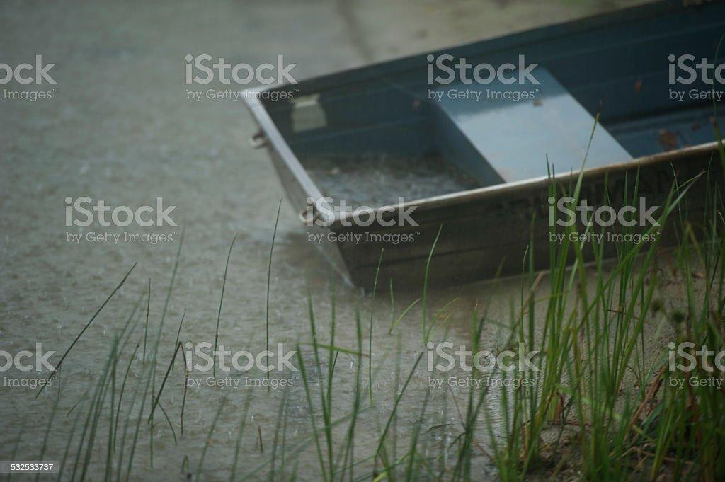 Ruderboot Regen – Foto