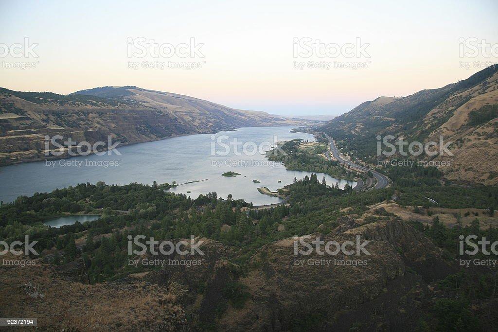 Rowena Point Columbia River Gorge royalty-free stock photo