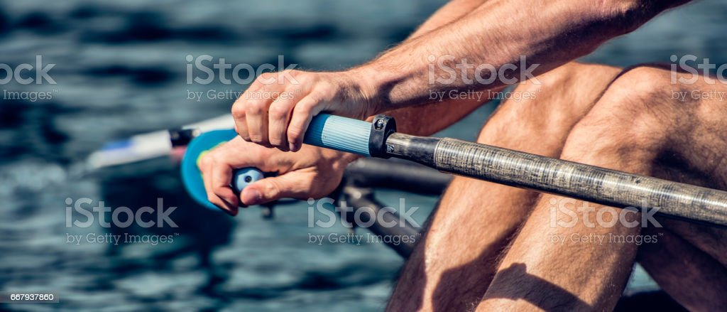 Rower in action stock photo