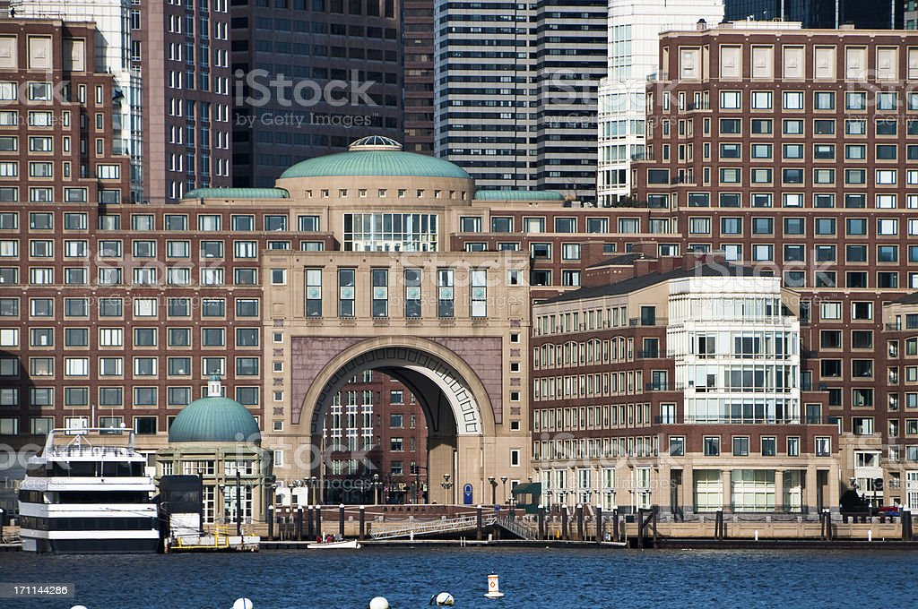 Rowes Wharf Arch stock photo
