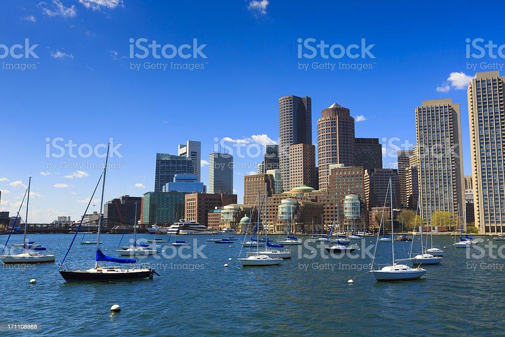 Rowe's wharf marina in Boston royalty-free stock photo
