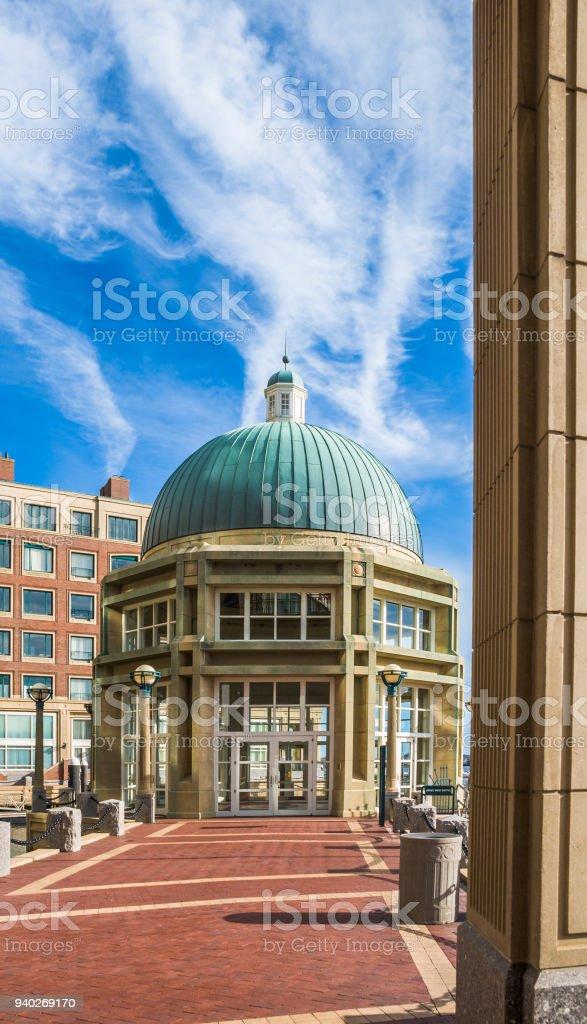 Rowe's Wharf  Pavillion stock photo