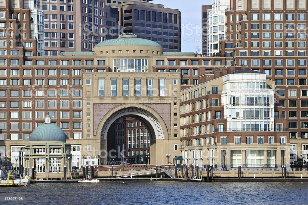 Rowes Wharf royalty-free stock photo