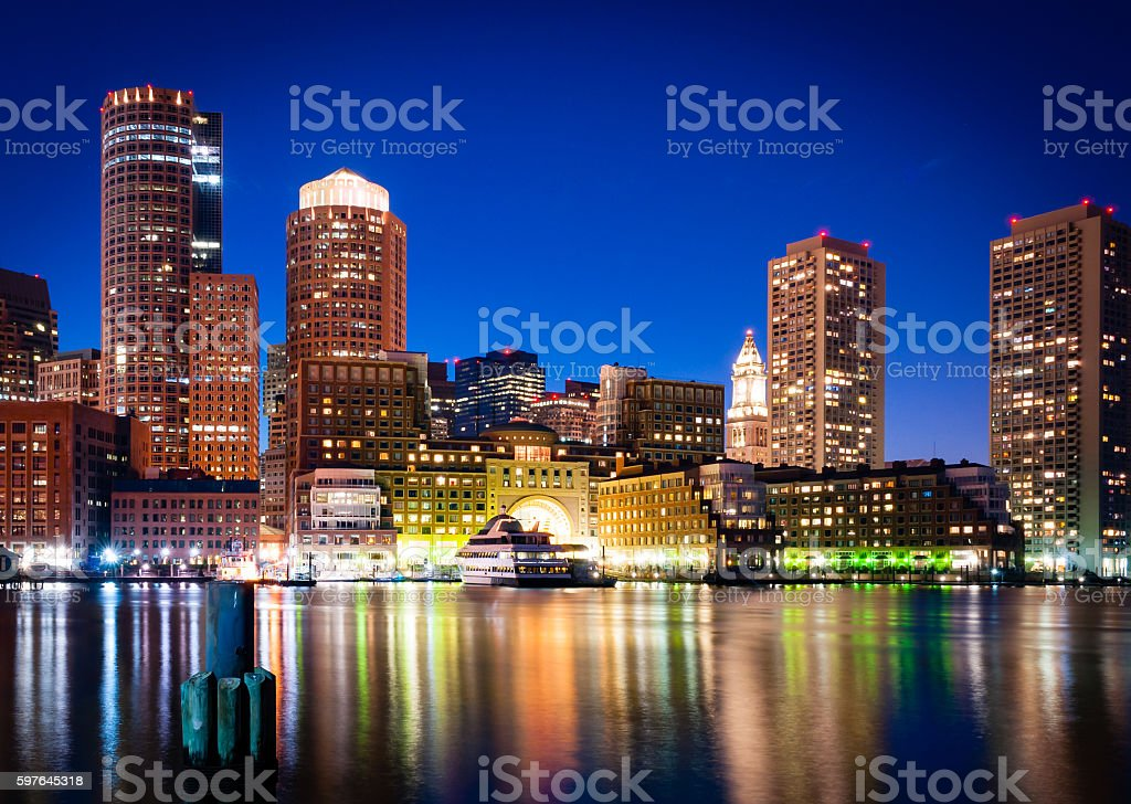 Rowes Wharf stock photo