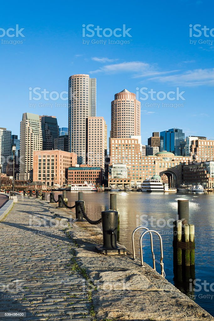 Rowes Wharf vertical format stock photo