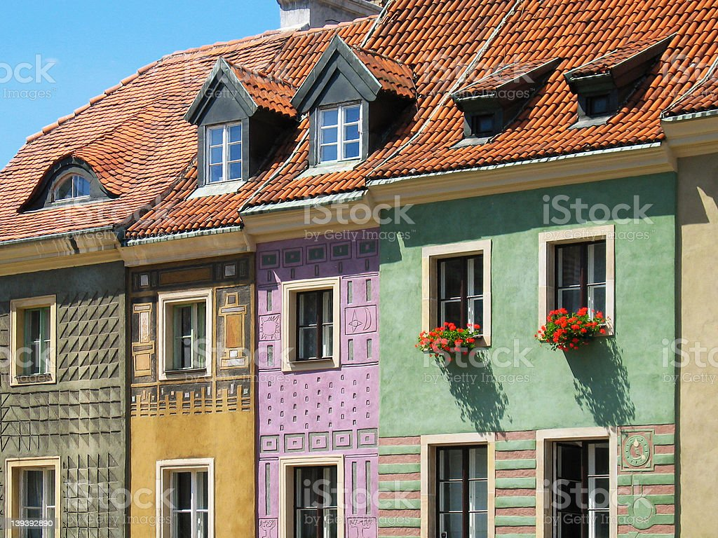 Rowhouses 3 royalty-free stock photo