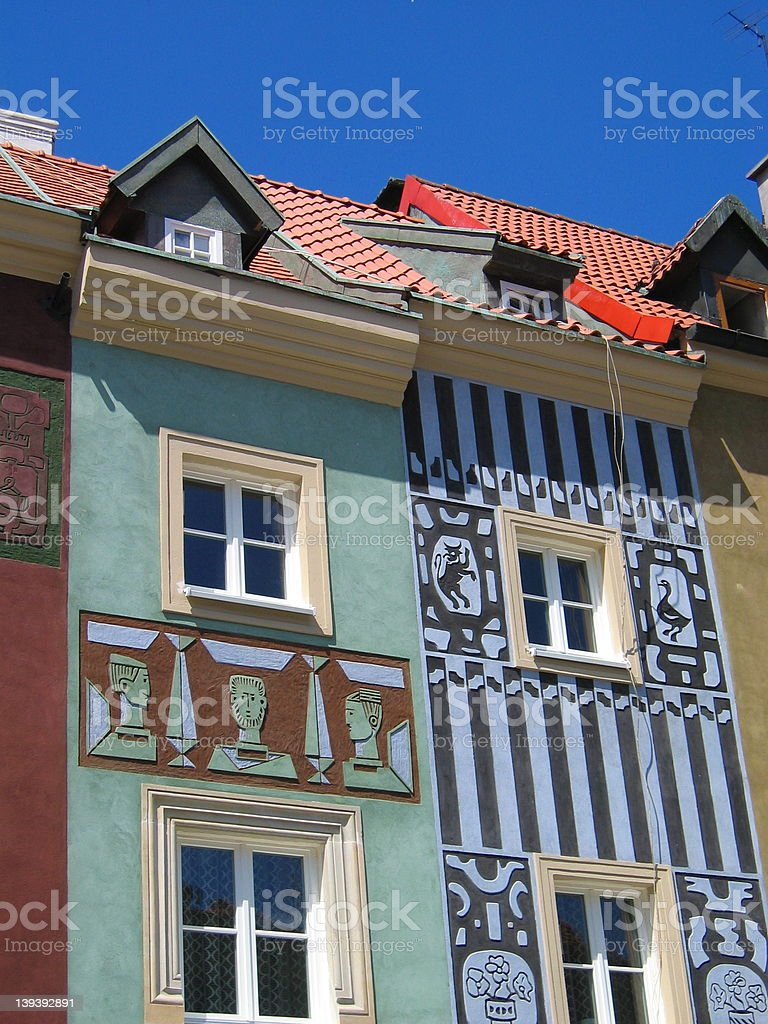 Rowhouses 4 royalty-free stock photo