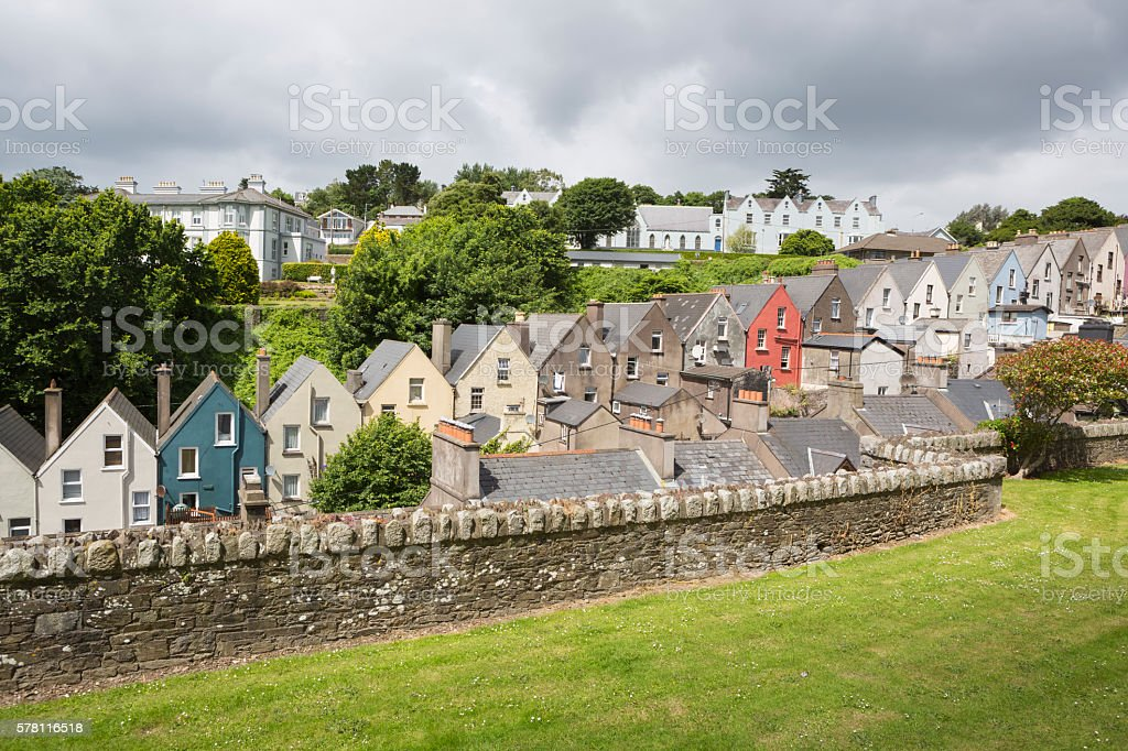 Rowhouses in the city of Cobh, County Cork, Ireland stock photo