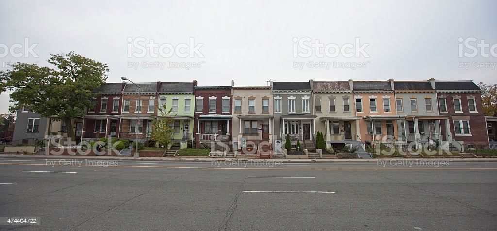 DC Rowhouses stock photo