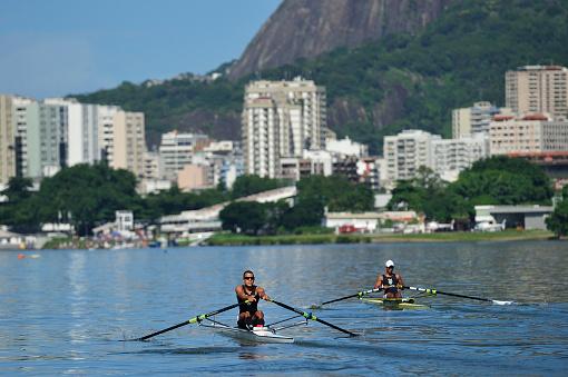 Rowing at Lagoon, Rio de Janeiro, Brazil